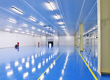 flooring in an industrial space