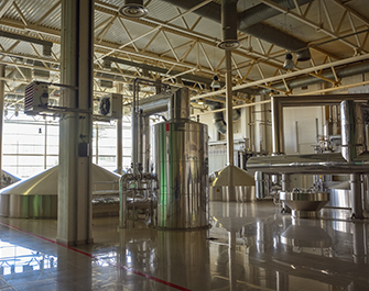industrial floors at brewery