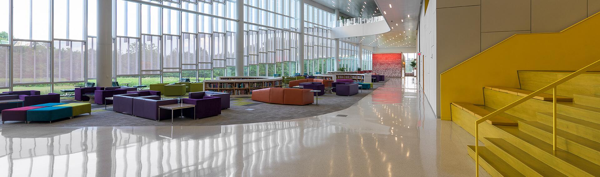 terrazzo flooring college library