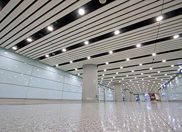 terrazzo floors in commercial space
