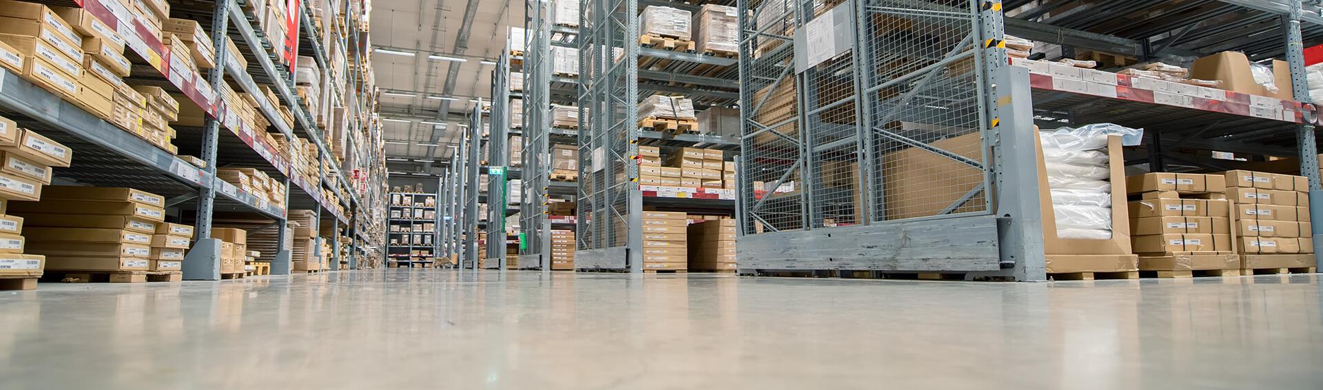 distribution warehouse polyaspartic coating flooring